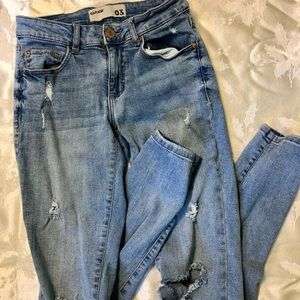 Size 3 ripped/distressed jeans by Garage